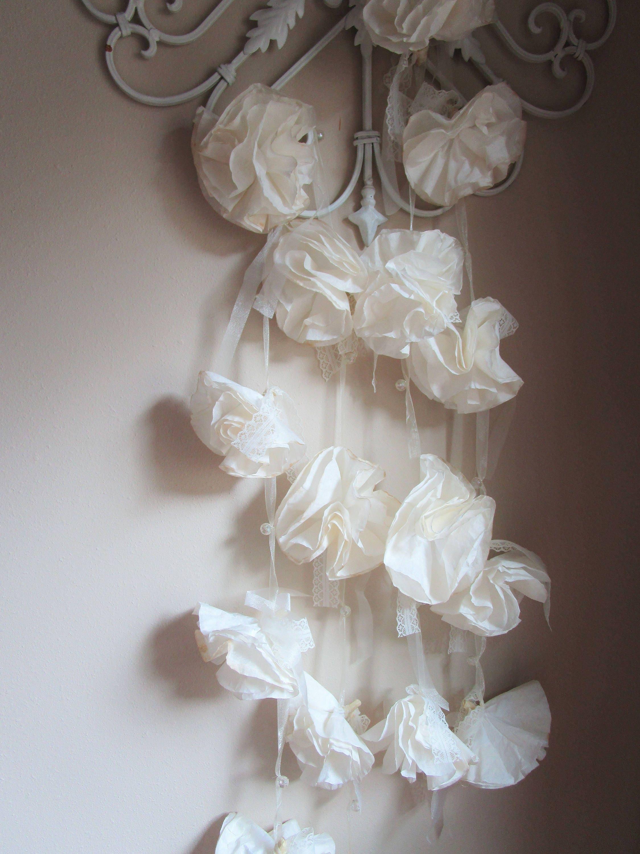 Paper Flower Garland Ivory White Garland Wedding Decorations