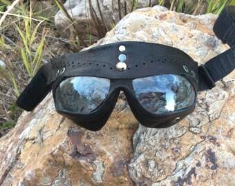 Handmade leather goggles