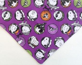 Halloween Dog over the collar Bandana,  Halloween dog bandana, purple