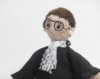 Ruth Bader Ginsburg, Art Doll, RBG Ornament, RBG, Supreme Court Justice, Notorious RBG, Nasty Woman, I Dissent, Law School Grad, Feminist