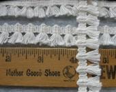 "Cream natural color tiny tassel fringe trim .75"" wide Hippie Boho retro BTY yards crafts costume small fringe"