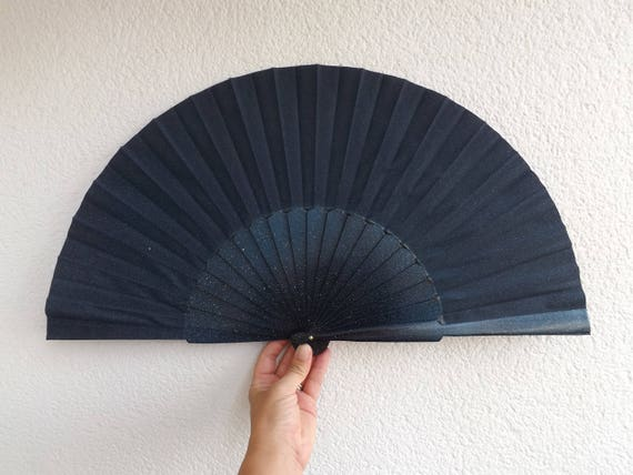 Night Sky Effect Hand Fan XL