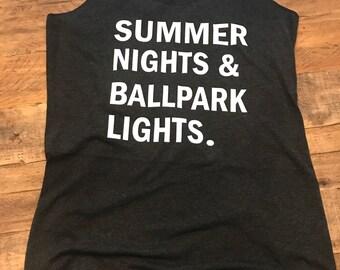 Summer Nights & Baseball Lights Tank Top