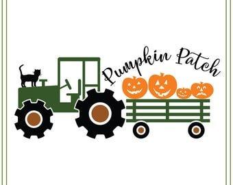 Halloween svg, pumpkin truck svg, pumpkin patch svg, vinyl, paper craft, card making, svg file Halloween illustration, halloween sign