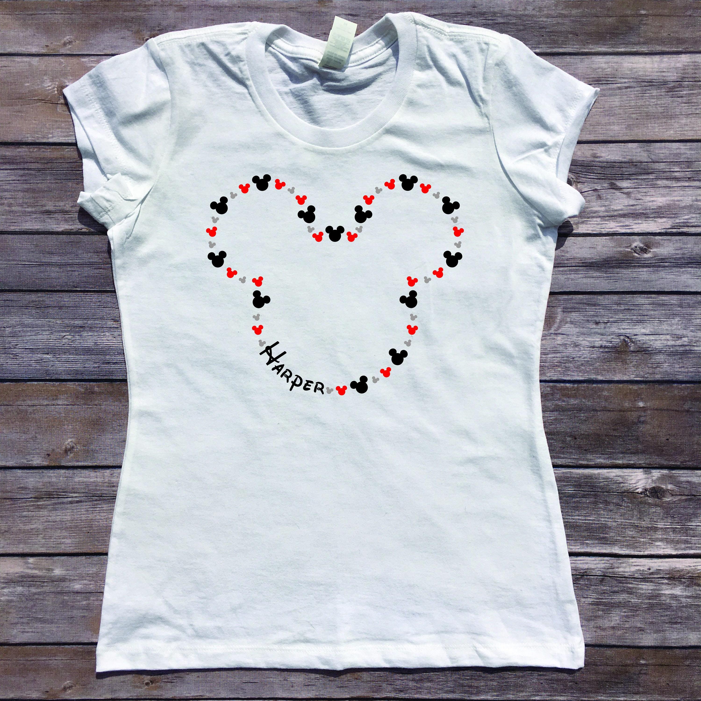 Custom disney shirt personalized mickey shirt personalized for Custom personal trainer shirts