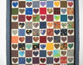 Heart Match Quilt Pattern by Curlicue Creations, I-Spy Quilt Pattern