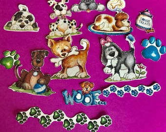 I Love My Dog 4 set of 13 decorative planner stickers. Will fit MOST planners