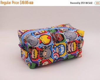 Christmasinjuly CIJ Sale Kawaii Marvel Avengers, Zip Pouch, Comicon, Marvel Comics, Ditty Bag, Toiletry Kit, Shave Kit, Toy Bag, Travel Case
