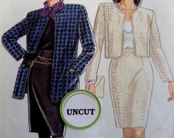 HIGH WAIST SKIRT Pattern • Simplicity 7388 • Miss 8-20 • Slim Skirt • Princess Seams • Cropped Jacket • Vintage Patterns • WhiletheCatNaps