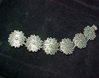 Sterling Silver Bracelet 52.5 Grams Vintage 50s dipable