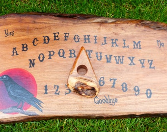 Ouija Board Raven Crow Black Bird Edgar Allan Poe Gothic Pagan Wiccan Game Talking Board Witchcraft Haunted Spell With Planchette Pointer