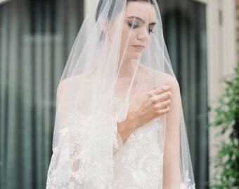 ADELAIDE- Cathedral Veil, Drop Veil, Fingertip Lace Veil, Drop Veil, Wedding Veil, Bridal Veil, Lace Veil