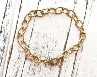 Raw Brass Chain Bracelet - Marian Consecration - Bracelet for Marian Consecration - Bracelet -  Made in USA