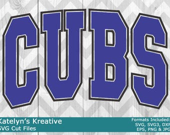 Cubs Arched SVG Files