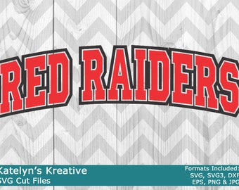 Red Raiders Arched SVG Files