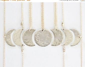 SUMMER SALE Bridesmaid Gift / Best Friend Necklace / Bridal Party / Moon Jewelry / Girl Squad / Mother Daughter Jewelry / Sister Necklace /