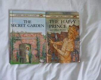 Two vintage lady bird children's classics Secret garden and happy prince 1980-1983