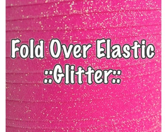 Fold Over Elastic - Glitter, hair bow making and accessories