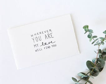 Simple Anniversary Card - Valentine - Wherever You Are...