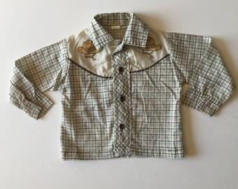 Vintage Western Cowboy Shirt (18/24 months)
