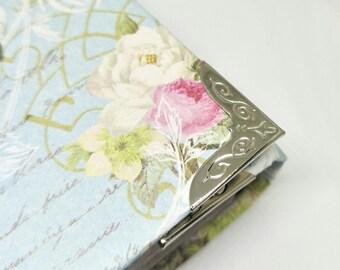 20 Large Vintage Nickel Silver Metal Book Corners - Purse Corners - Bag DIY