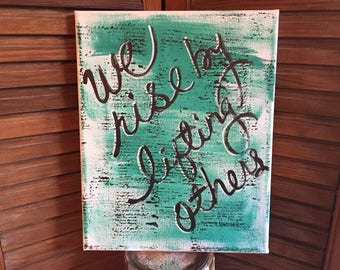canvas wall art we rise