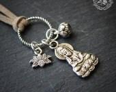 Guanyin Devotion Pendant Charm Necklace.