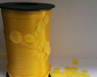 YELLOW curling ribbon gift bag ribbon confetti balloon ribbon 10 yards yds gift wrap gift tag party birthday party balloons