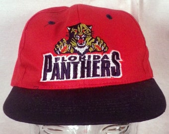 vtg 90s Florida Panthers NHL Twill Snapback Hat Cap fresh caps Youth size