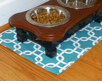 Placemat for Pet, Food Mat for Pet, Pet Placemat for Pet, Dog Food Mat for Pet, Turquoise Pet Placemats, Dog Bowl Mat for Pet