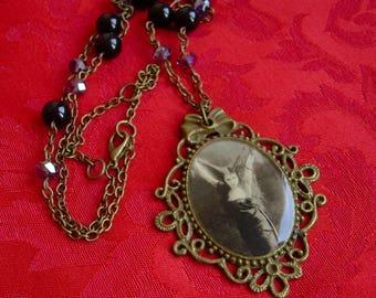 Theda Bara Cameo necklace