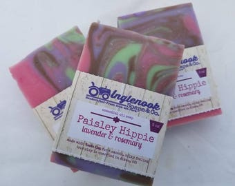 Paisley Hippie Soap - 5 oz Inglenook Soaps Home Scents Home Goods Hippie Soap Pthtlatate-Free