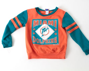 vintage 90s MIAMI DOLPHINS size 5t 5 year old FOOTBALL vintage dan marino sweatshirt