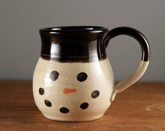 SALE Snowman Pottery Mug