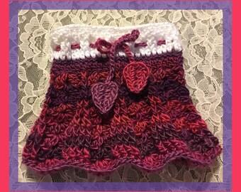Primavera Skirt Newborn Size in Winery - Ready to Ship