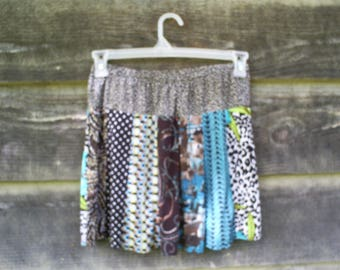Upcycled, Recycled and Repurposed T Shirt Skirt 28-31 inches.