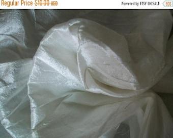 15% off on One yard white  dupioni silk blend
