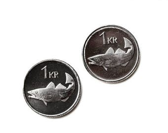 Limited Time Offer Iceland Coin Cufflinks - Men's Jewelry - Handmade - Gift Box Included