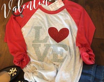 Valentines Shirt, Valentine Shirt, Love Shirt, Valentines Day, Valentines Day, Womens Valentine Shirt, OnHeavenlyLane, Raglan Tee, Shirt