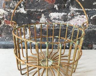 Farmhouse Egg basket Metal Egg Basket