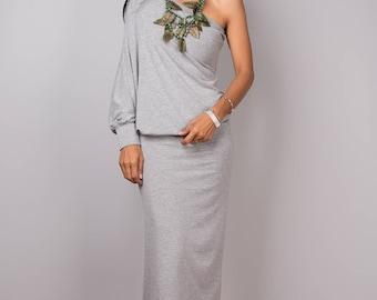 Grey dress, Long grey dress, gray dress, bodycon dress , grey tunic, sexy grey dress, party dress, bachelorette dress,