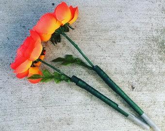 Orange and Pink Blossom Pens