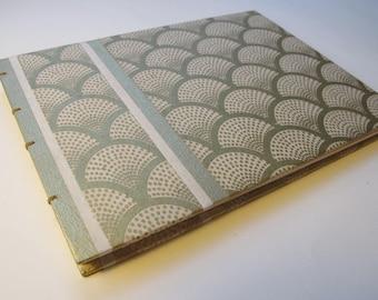 Large Ivory and Gold Metallic Art Deco Modern Wedding Guest Book Instax Polaroid Photo Album