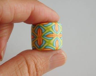 Dread Bead, Polymer Clay Bead with 13 mm bead hole