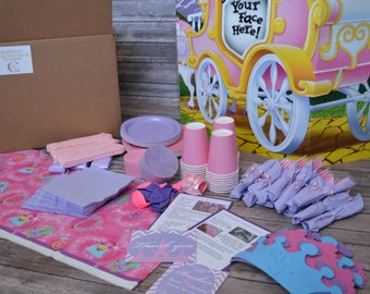 PRINCESS Themed Birthday Party-In-A-Box. Custom Party Box - Personalized Birthday Invites - Princess Birthday Party - Celebration Creation