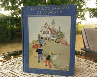 Robert Louis Stevenson a child's garden of verses circa 1929