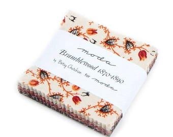 "12% off thru July Mini Charm pack BRAMBLEWOOD  from Betsy Chutchian 42 2.5"" squares Moda cotton fabric beautiful Pre Civil War Reproduction"