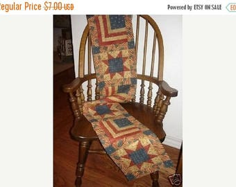 20 % off thru 8/20 Instructions only FLAGS AND STARS log cabin table runner pattern - pieced quilted
