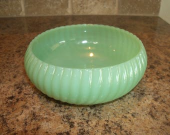 FREE USA Shipping- Fire King Jadeite/Jadite Bulb Candy Bowl