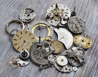 Vintage wrist watch parts, supplies.